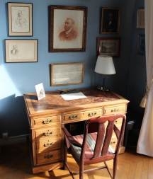 Nobel's desk at the Swedish Club in Paris, France, where he wrote his final will and testament