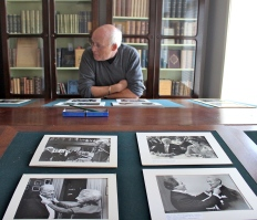 Karlskoga museum curator Hans Johansson shares historical photographs of past award recipients.