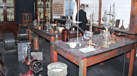 A reproduction of Alfred Nobel's laboratory at Björkborn in Karlskoga, Sweden